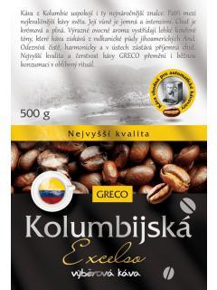 Káva mletá - Kolumbie Excelso 100% arabica