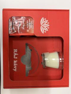 Vanocni kava s vonnou svíčkou vanilka